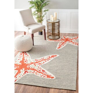 nuLOOM Handmade Starfish Indoor/ Outdoor Terra Rug (5' x 8')