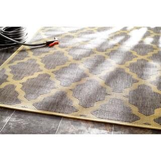 nuLOOM Moroccan Trellis Indoor/ Outdoor Grey Rug (9' 11x 14')