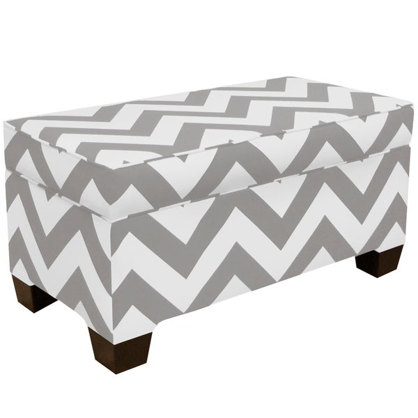 Skyline Furniture Zippy Storm/Twill Storage Bench
