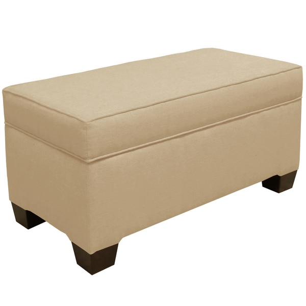 Skyline Furniture Linen Sandstone Storage Bench