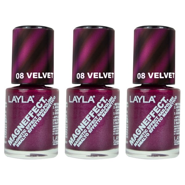 Layla Magneffect Velvet Groove Nail Polish (Pack of 3)
