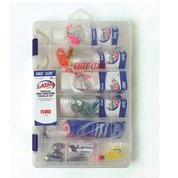 Eagle Claw 12-Fluke Saltwater Tackle Kit