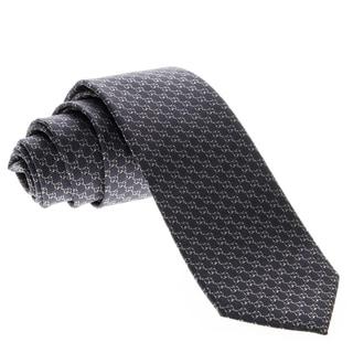 Gucci Men's 'Microgiccissima' Pattern Navy Silk Tie