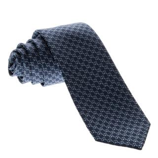 Gucci Men's 'Microgiccissima' Pattern Blue Silk Tie