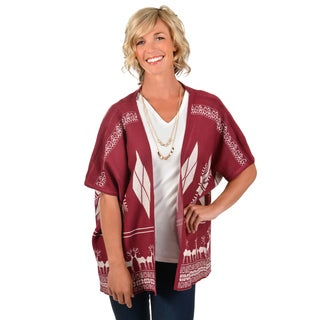 Journee Collection Women's Printed Knit Cardigan