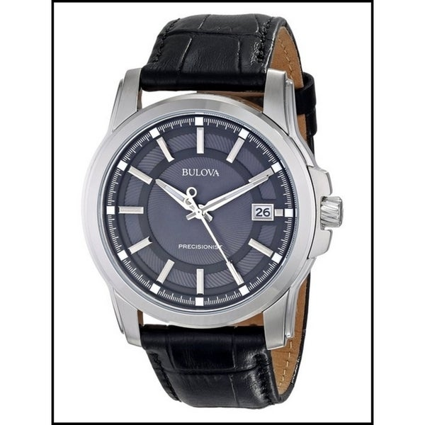 Bulova Men's Precisionist Leather Strap Watch- 96B158