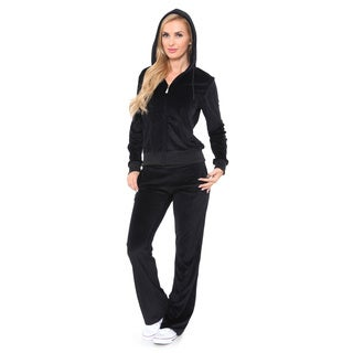 White Mark Women's Velour Lounge Suit