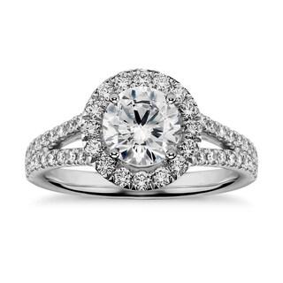 1 4/5ct TDW Brilliant-cut Diamond Halo Engagement Ring (G-H, SI1-SI2)