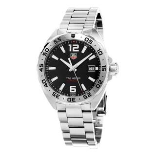 Tag Heuer Men's WAZ1112.BA0875 'Formula 1' Black Dial Stainless Steel Swiss Quartz Watch