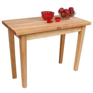 John Boos C03-O Country Maple 60x24x35 Work Table With Bonus Henckels 13 Piece Knife Block Set