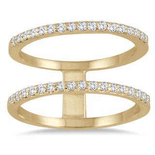 Marquee Jewels 3/8 Carat Diamond Double Row Ring in 10K Yellow Gold (I-J, I1-I2)