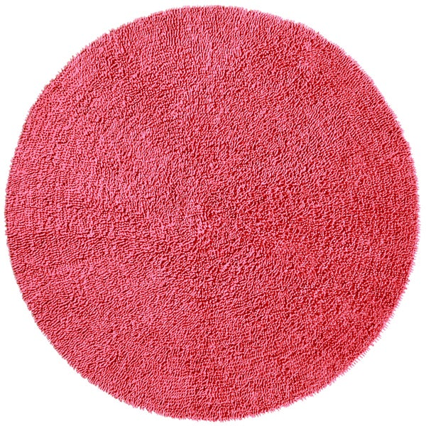 Pink Shagadelic Chenille Twist (2'x2') Round Shag Rug