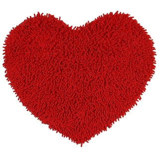 "Red Shagadelic Chenille Twist (20""x24"") Shag Heart"