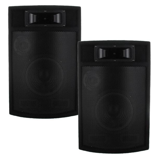 Acoustic Audio PA380X 1200-watt 8-inch 3-way Pro PA DJ Studio Monitor Speakers