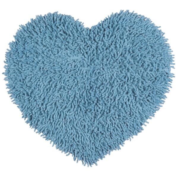 "Blue Shagadelic Chenille Twist (20x24"") Shag Heart"
