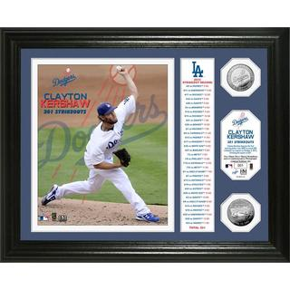 "Clayton Kershaw ""301 Strikeouts"" Banner Silver Coin Photo Mint"