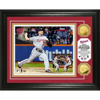 "Max Scherzer ""2nd No-Hitter"" Gold Coin Photo Mint"