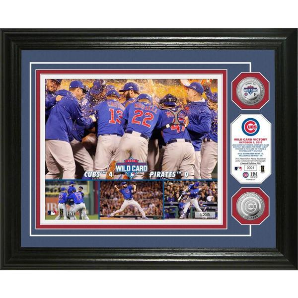 "Chicago Cubs ""2015 Wild Card Victory"" Silver Coin Photo Mint"