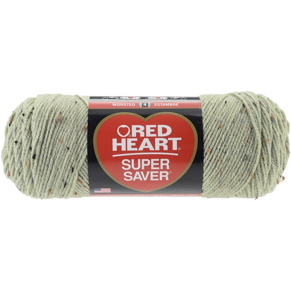 Red Heart Super Saver YarnFrosty Green Fleck