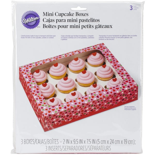 Mini Cupcake Boxes 12 Cavity 3/Pkg