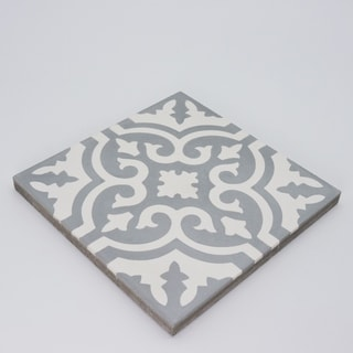 Pack of 12 Ahfir Grey and White Stars Wall Tiles (Morocco)