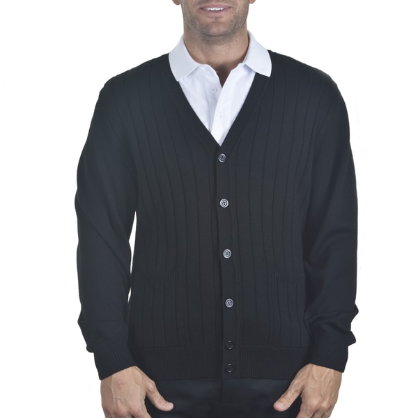 Men's Ribbed Merino Cardigan