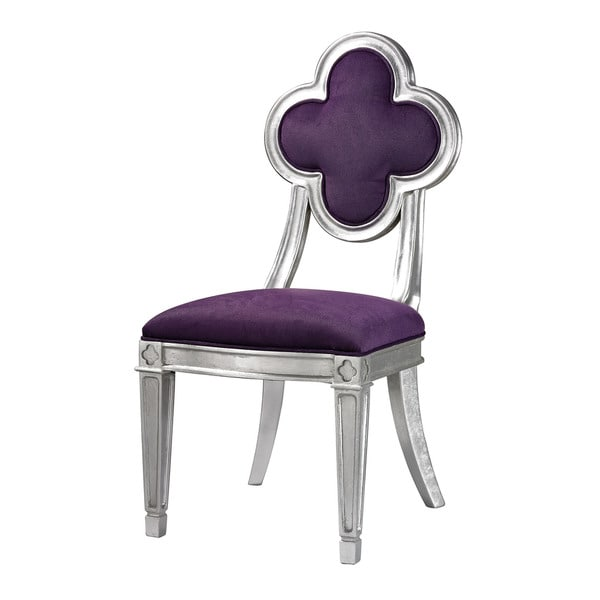 Penryn Petal Back Dining Chair in Purple