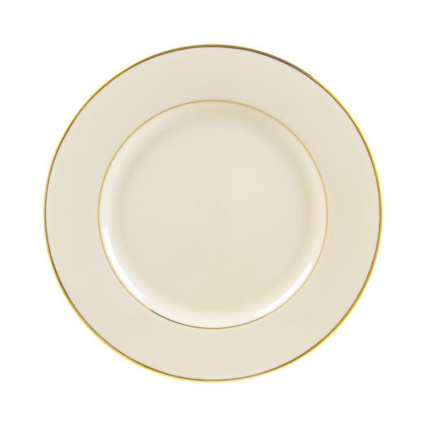 10 Strawberry Street Cream Double Gold Dinner Plate (Set of 6) 16482995