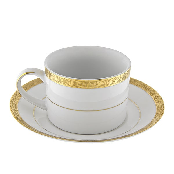 Luxor Gold Can Cup/ Saucer (Set of 6) 16483042