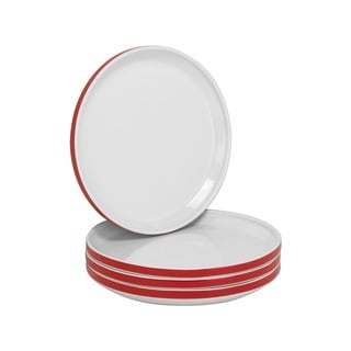 Felix 7.75-inch Stackable Red Side Plate (Set of 4)