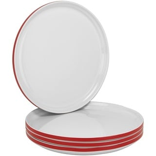 Felix 10.5-inch Stackable Red Dinner Plate (Set of 4)