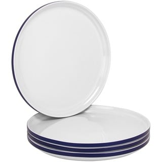Felix 10.5-inch Stackable Blue Dinner Plate (Set of 4)