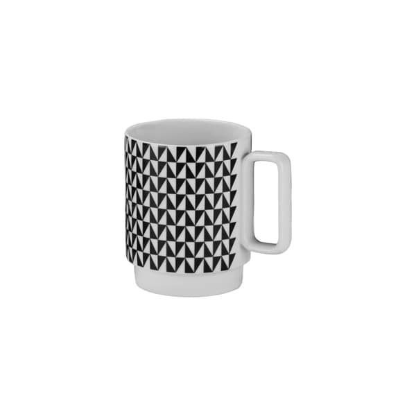 Felix 12-ounce Mug Black (Set of 4)