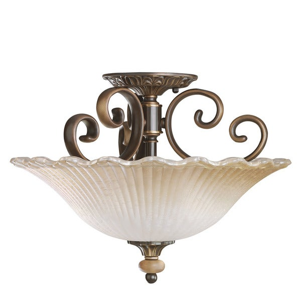 Traditional Two Light Oiled Bronze Semi Flush Mount Free Shipping Today Overstock Com
