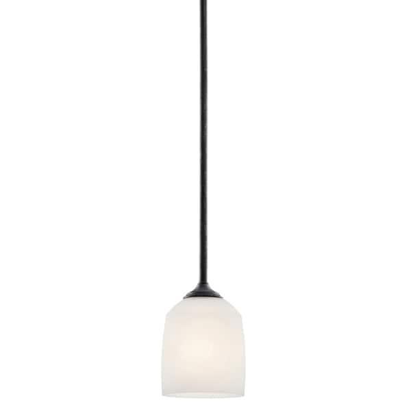 Contemporary 1-light Distressed Black Mini Pendant