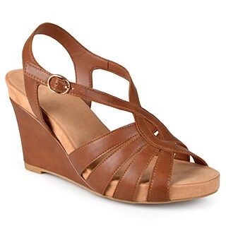 Journee Collection Women's 'Cora' Comfort Sole Strappy Wedge Sandals