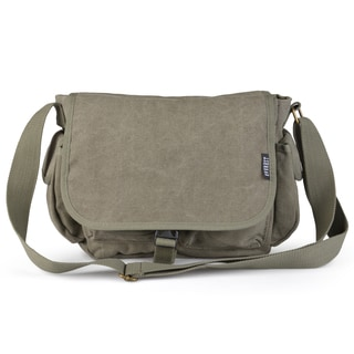 Vance Co. Men's Canvas Multi-pocket Messenger Bag