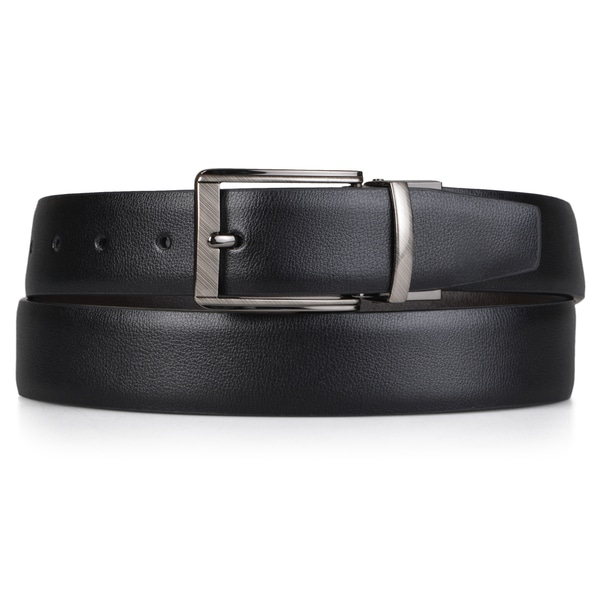 Vance Co. Men's Reversible Feather Edge Belt