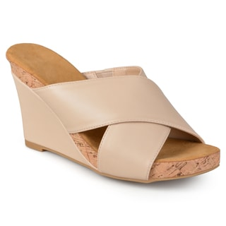 Journee Collection Women's 'Sloan' Comfort Sole Strappy Wedge Sandals