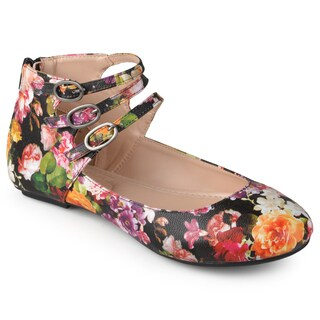 Journee Collection Women's 'Tish' Comfort Sole Ankle Strap Flats