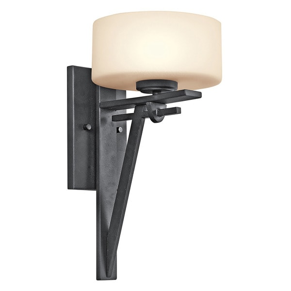 Contemporary 1-light Distressed Black Wall Sconce