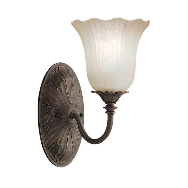 Traditional 1-light Oiled Bronze Wall Sconce 16483765