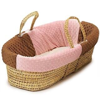 Minky Dot Moses Basket