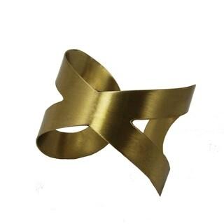 Crisscross Goldtone Cuff Bracelet (India)