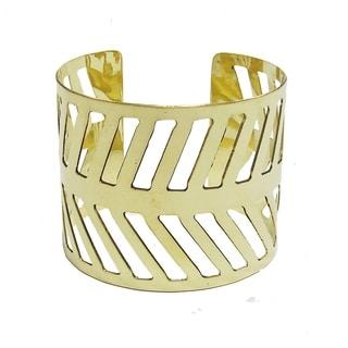 Chevron Path Goldtone Cuff Bracelet (India)