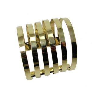 Six Band Goldtone Cuff Bracelet (India)