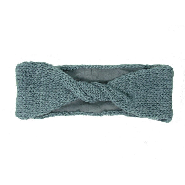 Handwoven Lined Twist Headband - Chambray (Nepal)