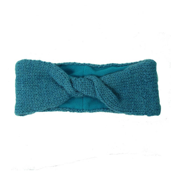 Handwoven Lined Twist Headband - Teal (Nepal)