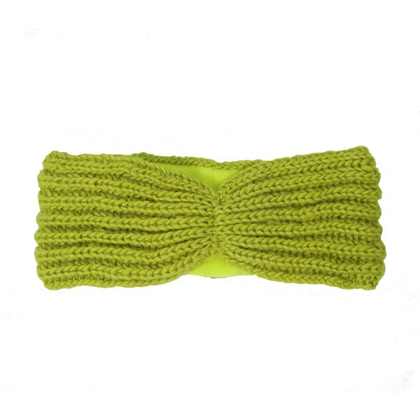 Handwoven Lined Turban Headband - Citron (Nepal)