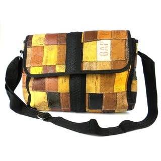 Upcycled Leather Label 'Butler' Bag with Tire Accent (India)